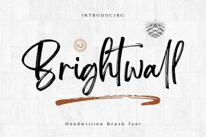 Brightwall Brush Signature Font
