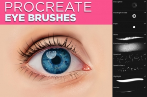Eye Brushes for Procreate