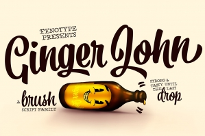 Ginger John Brush Script Family
