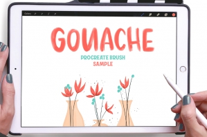 Free: Gouache Procreate Brush Pack Sample