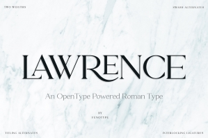Lawrence Modern Roman Typeface