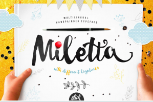 Miletta Typeface with Ligatures