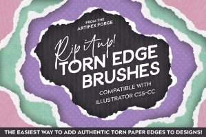 Rip It Up! Torn Edge Illustrator Brushes