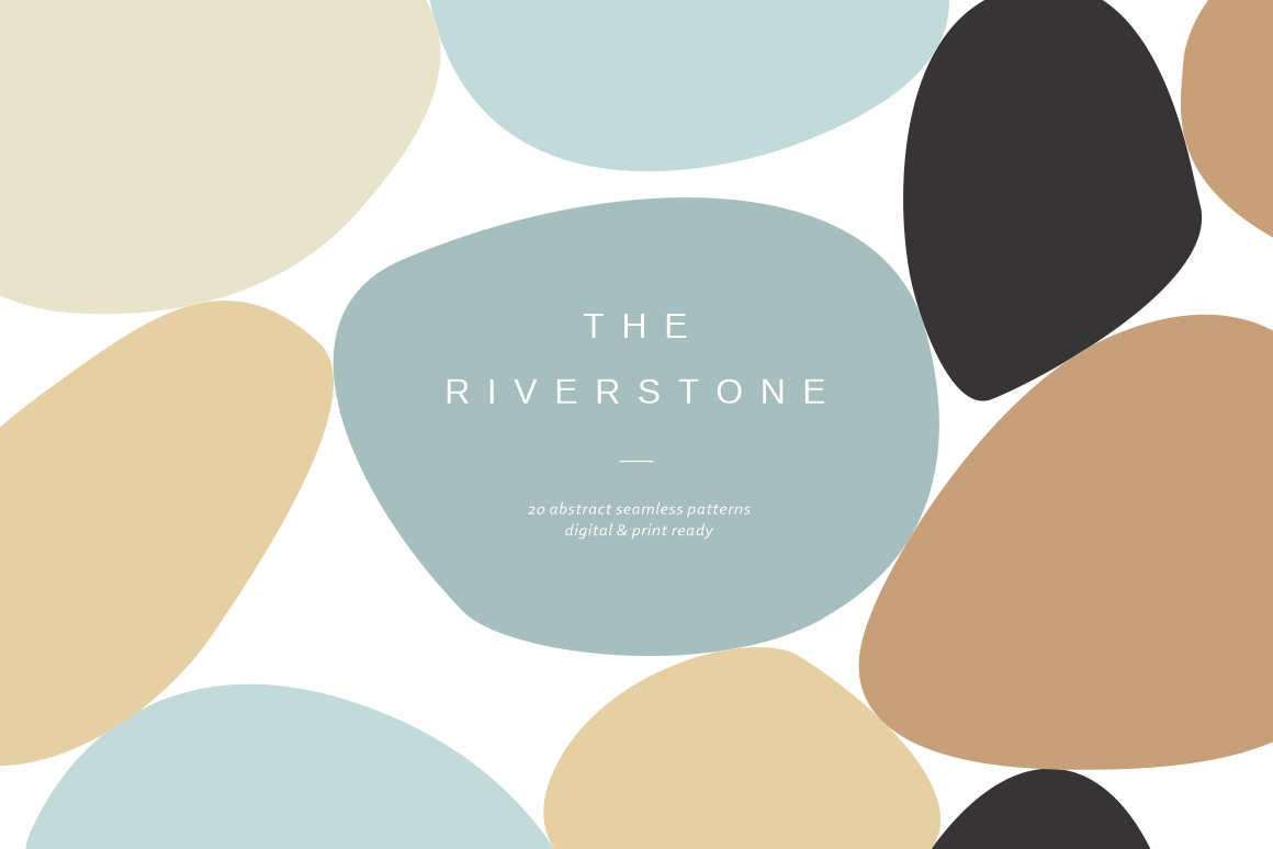 Riverstone Seamless Patterns