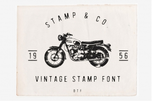 Stamp & Co - Vintage Stamp Font