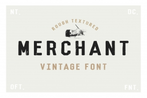 Merchant - Vintage Dry Brush Font