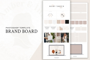 Brand Board Layout Template