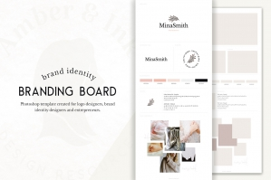 Brand Board Template for Identity Design