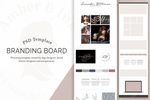Branding Board Template for Web Designers