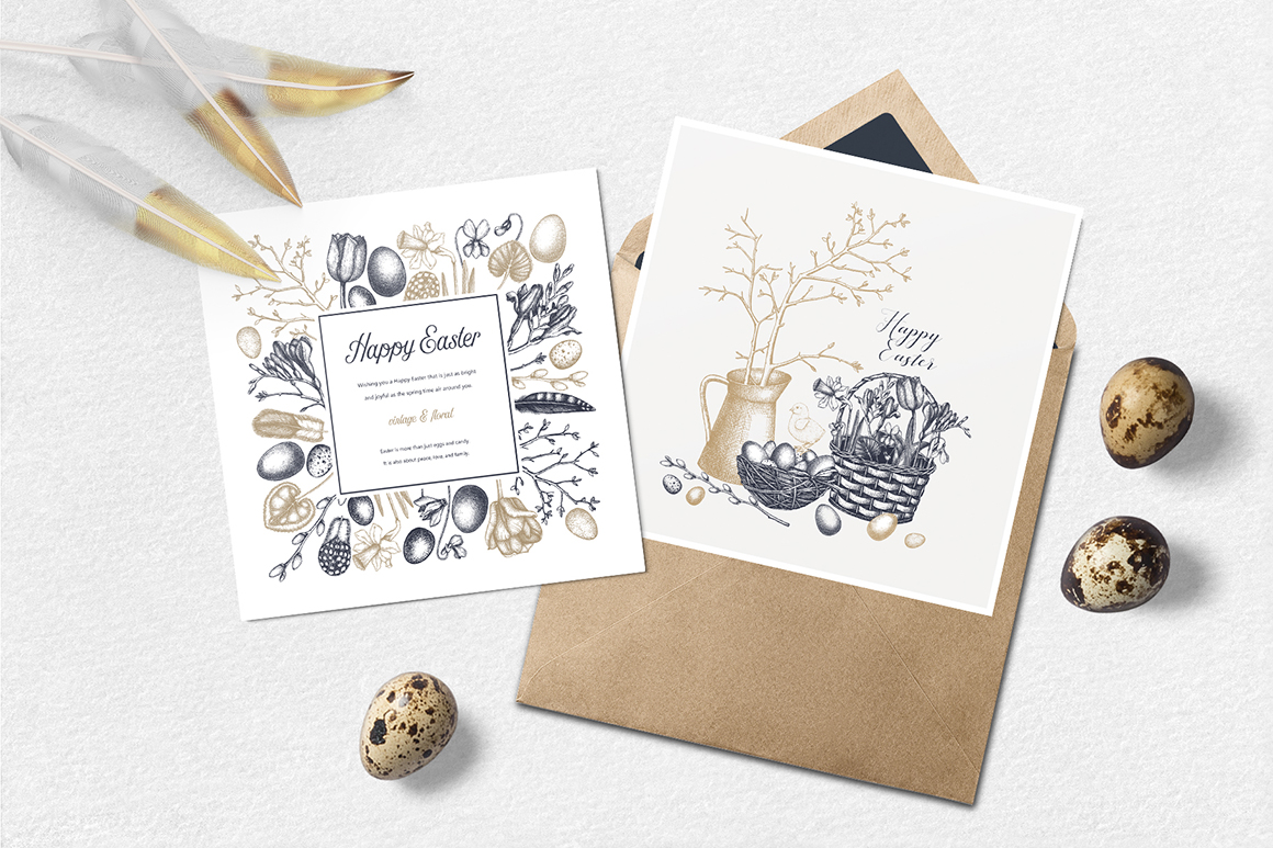 Easter Cards Templates Collection