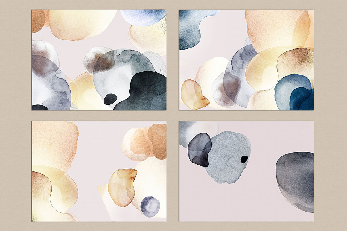 Gold Watercolor Brushes Collection