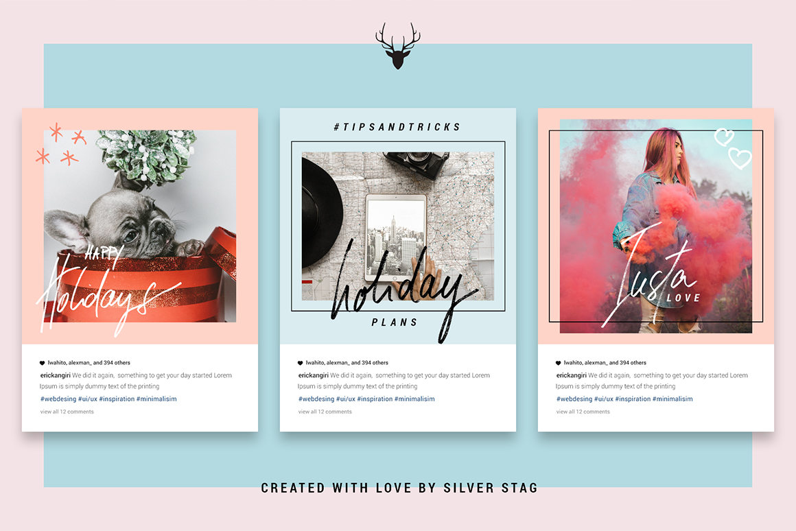 Holiday Animated Instagram Posts