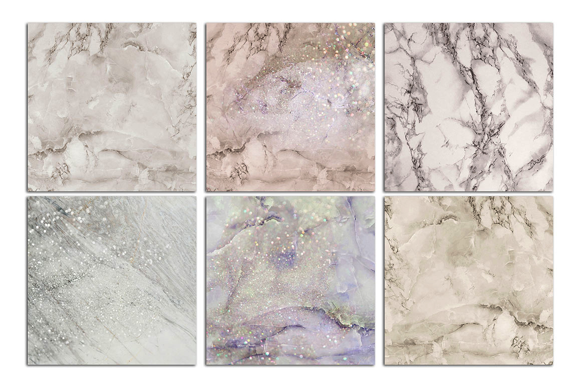 Lilac Marble & Glitter Textures