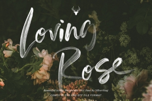 Loving Rose SVG Watercolor Font