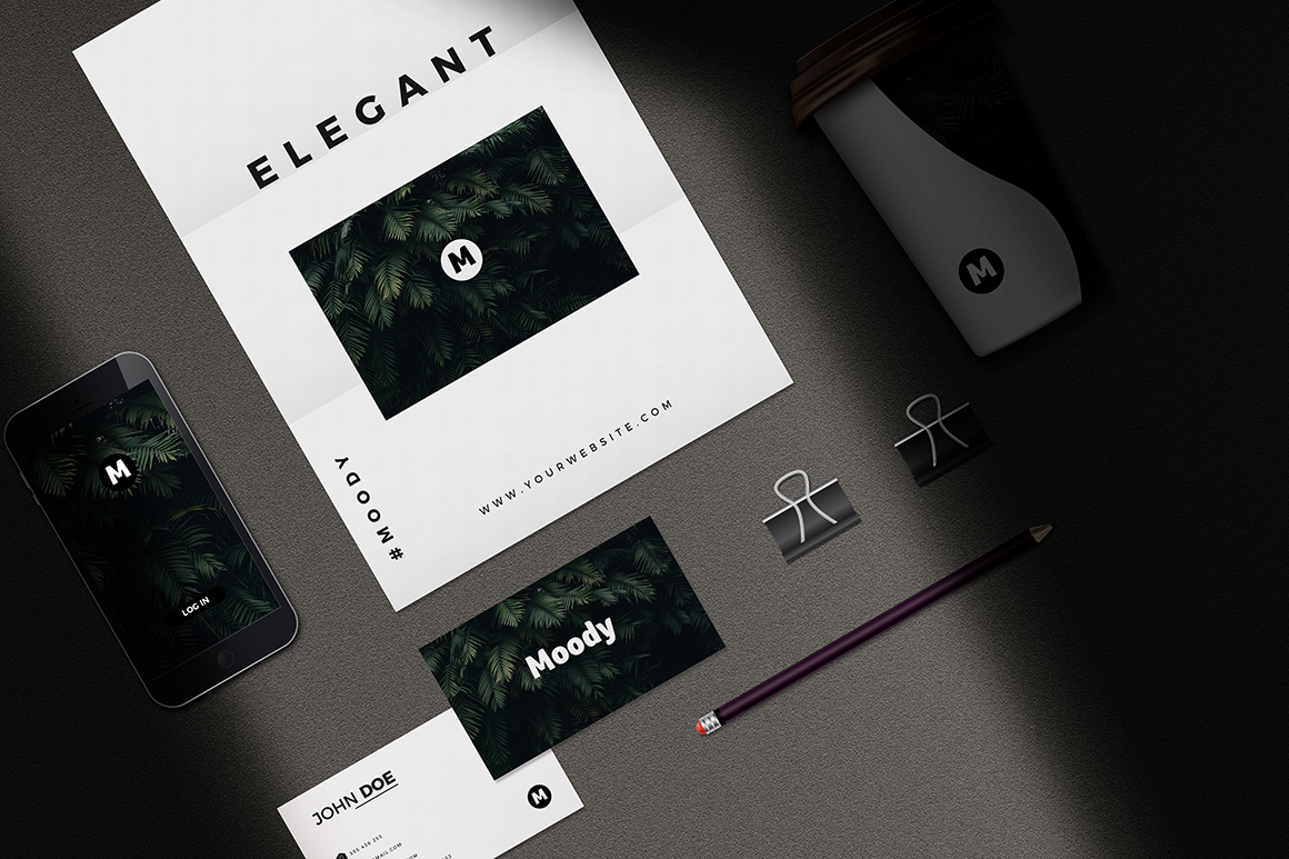 Moody Stationary Mockup Bundle
