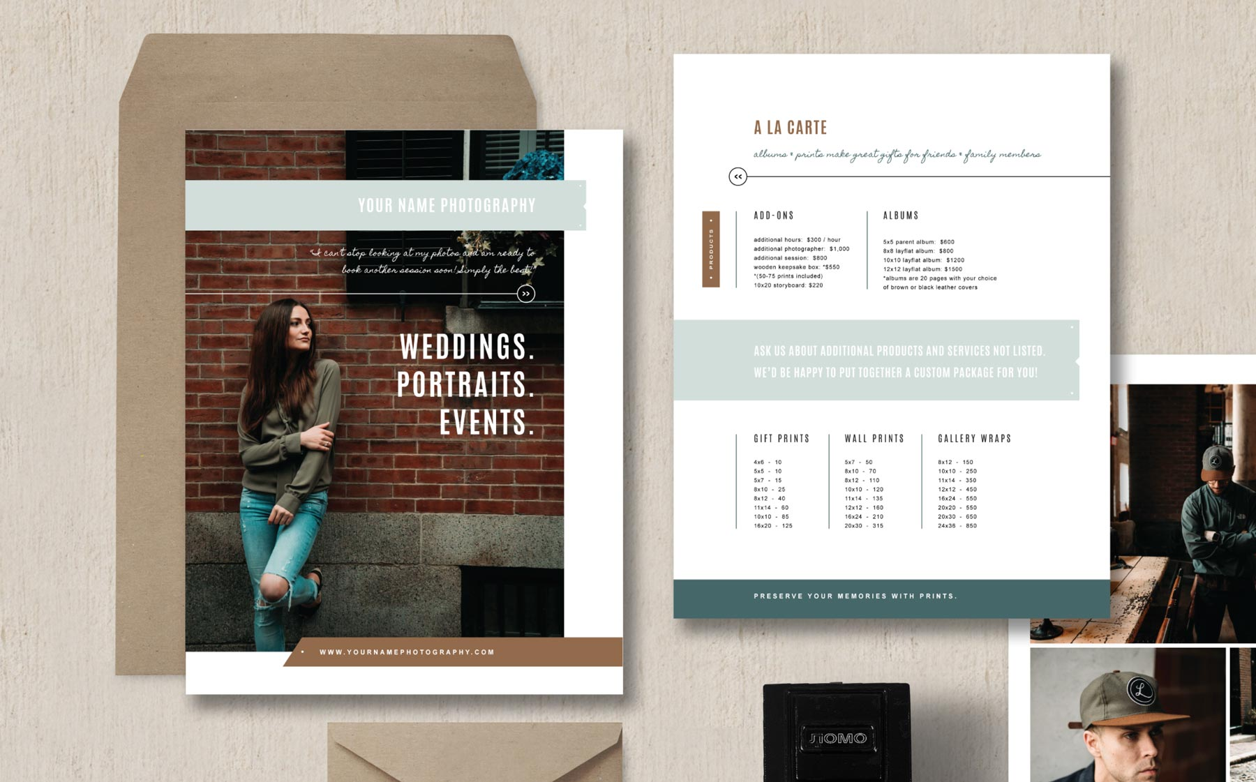 Photographer Pricing Guide Set