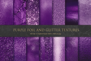 Purple Foil And Glitter Textures