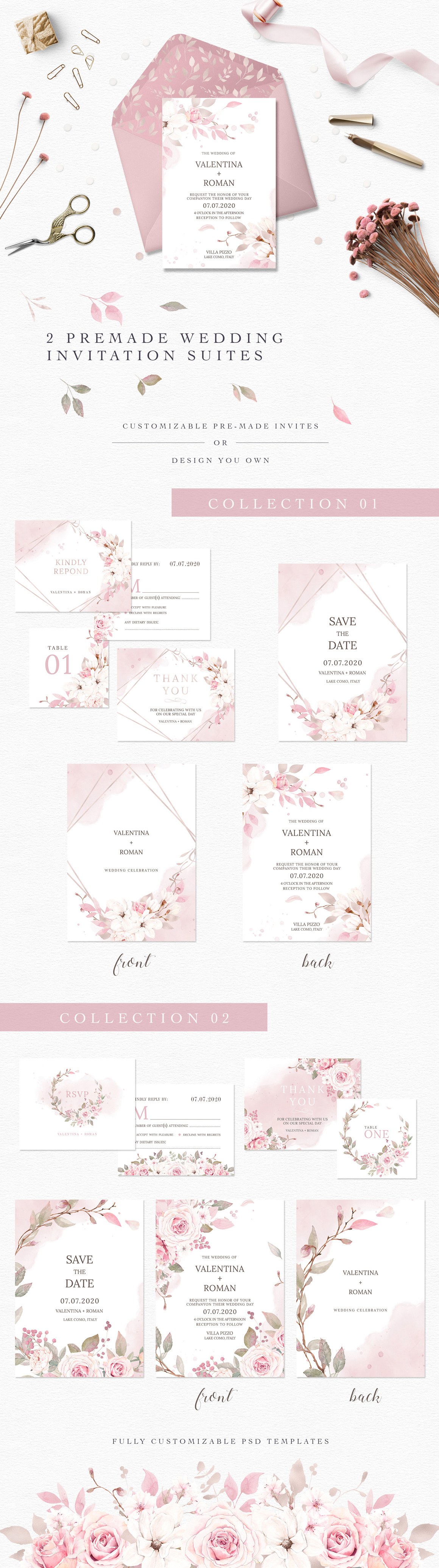 Rosé All Day Watercolor Clipart Collection