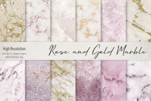 Rose and Gold Marble Textures