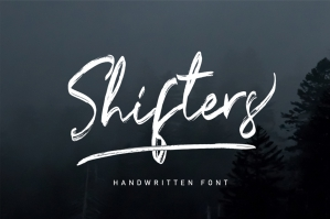 Shifters Handwritten Typeface Brush