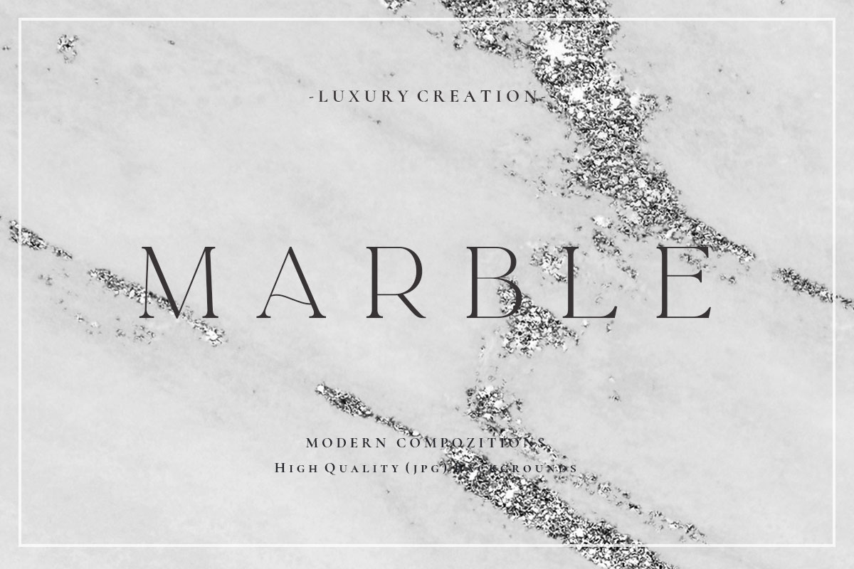 Silver Marble Textures