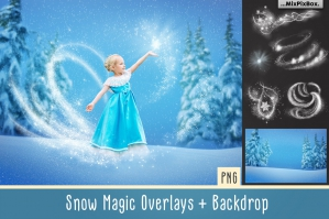 Snow Magic Photo Overlays