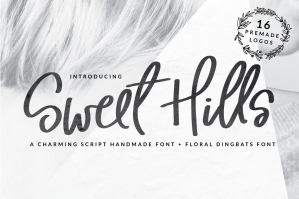 Sweet Hills Script Fonts and Dingbats