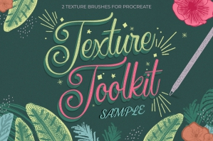 Free: Texture Toolkit Brushes for Procreate Sample