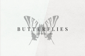 Vintage Butterflies Illustrations