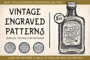 Vintage Engraved Patterns - Photoshop