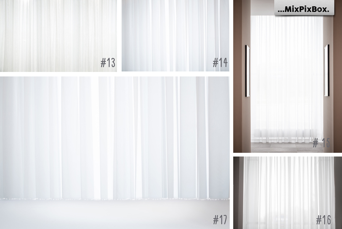 White Sheer Curtain Backgrounds