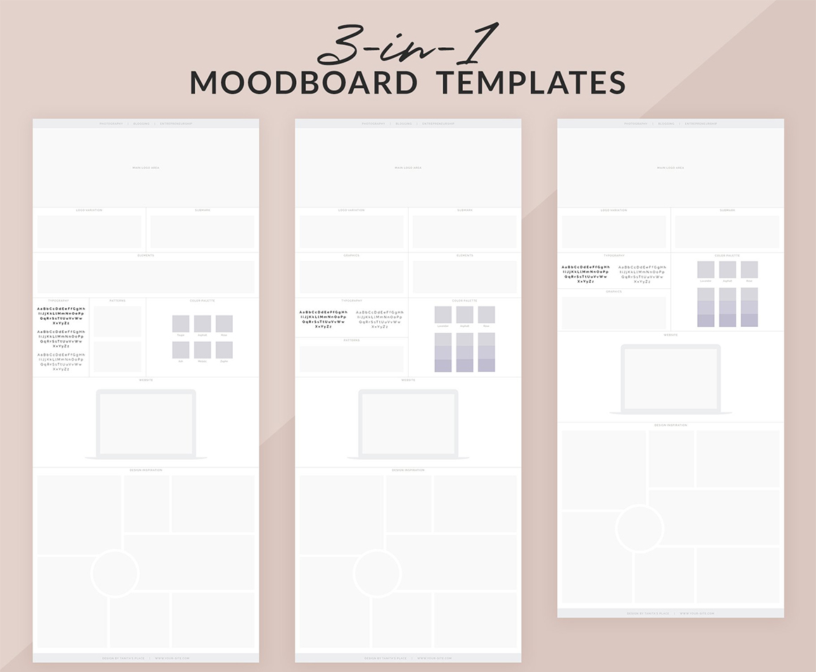 3-in-1 Moodboard Templates for Branding