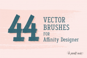 44 Vector Brushes for Affinity Designer