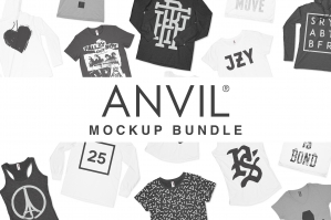Anvil Knitwear Apparel Mockup Bundle