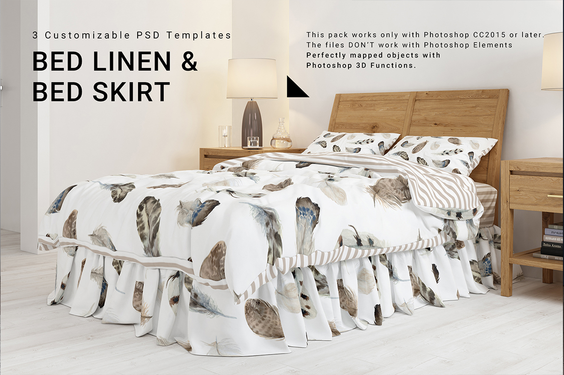 Bed Linen with Gathered Bed Skirt
