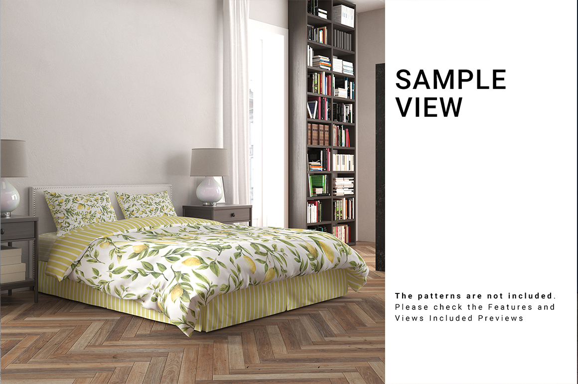 Bed Linen with Tailored Bed Skirt
