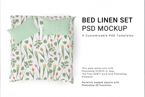 Bed Linens Mockup Set No.2