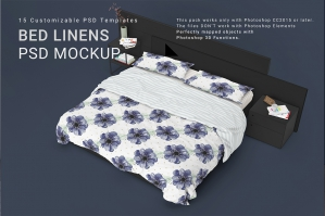 Bed Linens Mockup Set No. 5