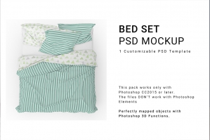 Bed Linens Mockup Set No.6