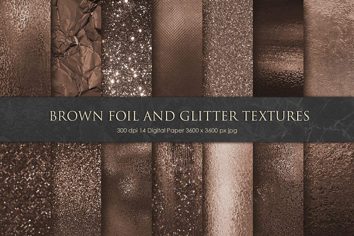 Brown Foil and Glitter Textures