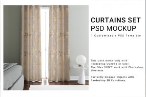 Curtains Mockup Set