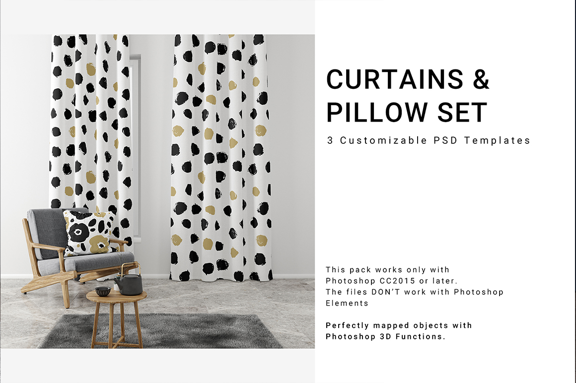 Curtains and Pillow Set