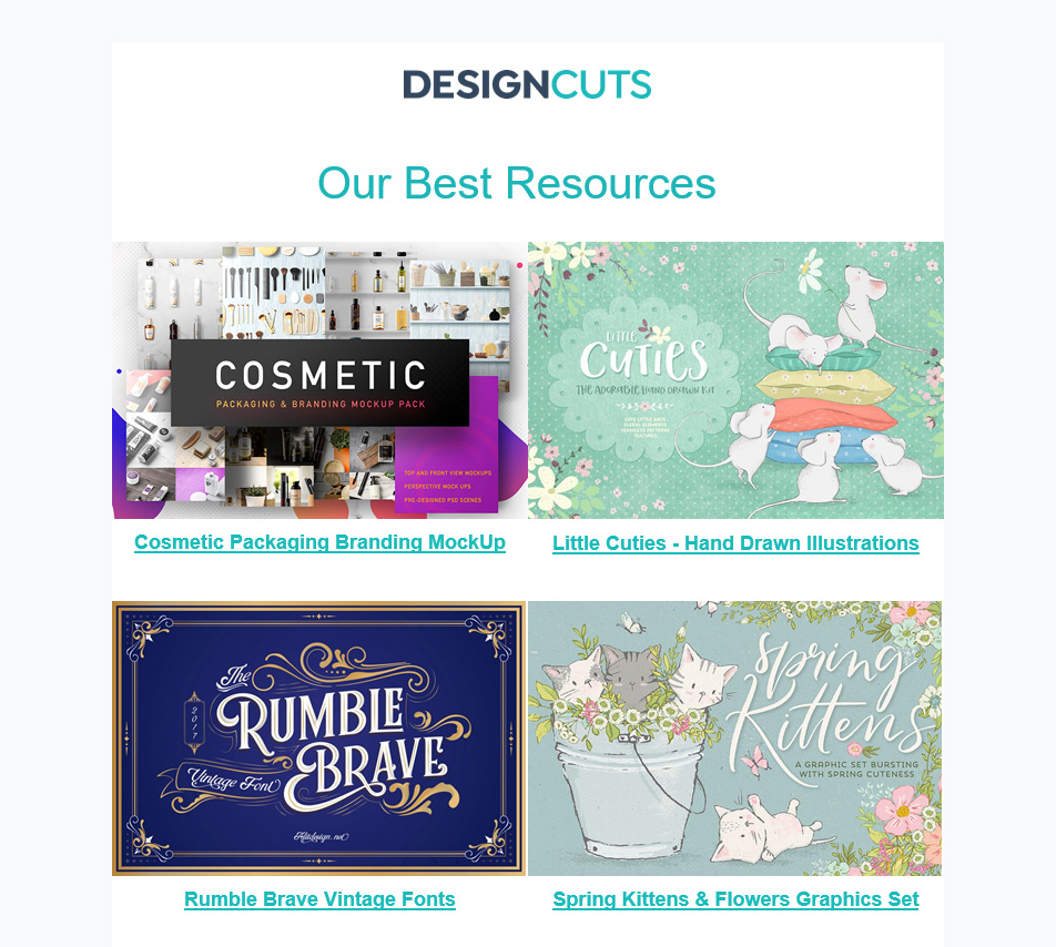 Design Cuts Email Newsletter