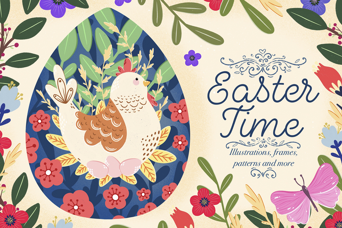Easter Time - Cute Hand Drawn Collection