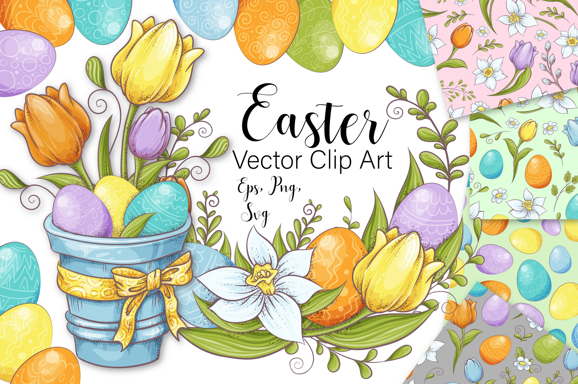 Easter - Vector Clip Art