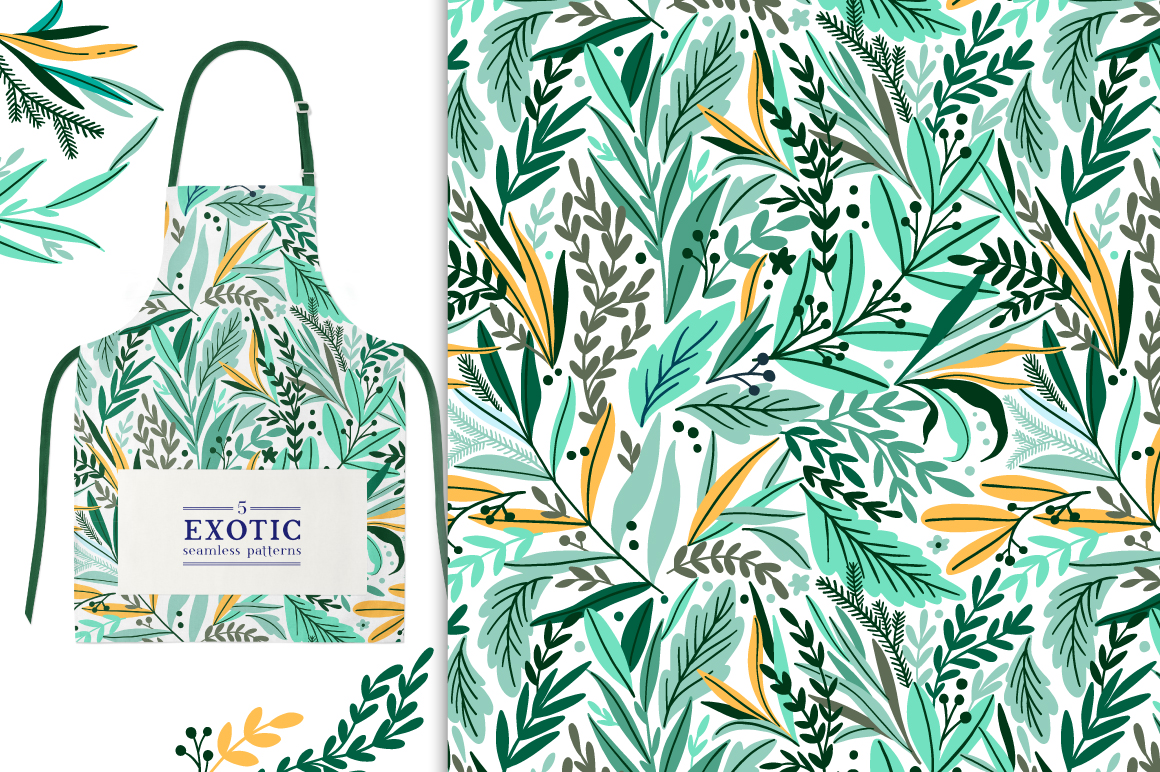 Exotic Leaves Pattern