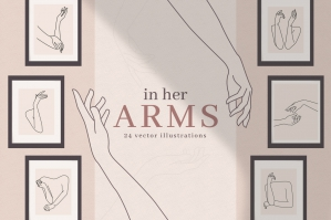 Feminine Hands & Arms Illustrations