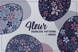 Fleur: Seamless Floral Patterns & Elements