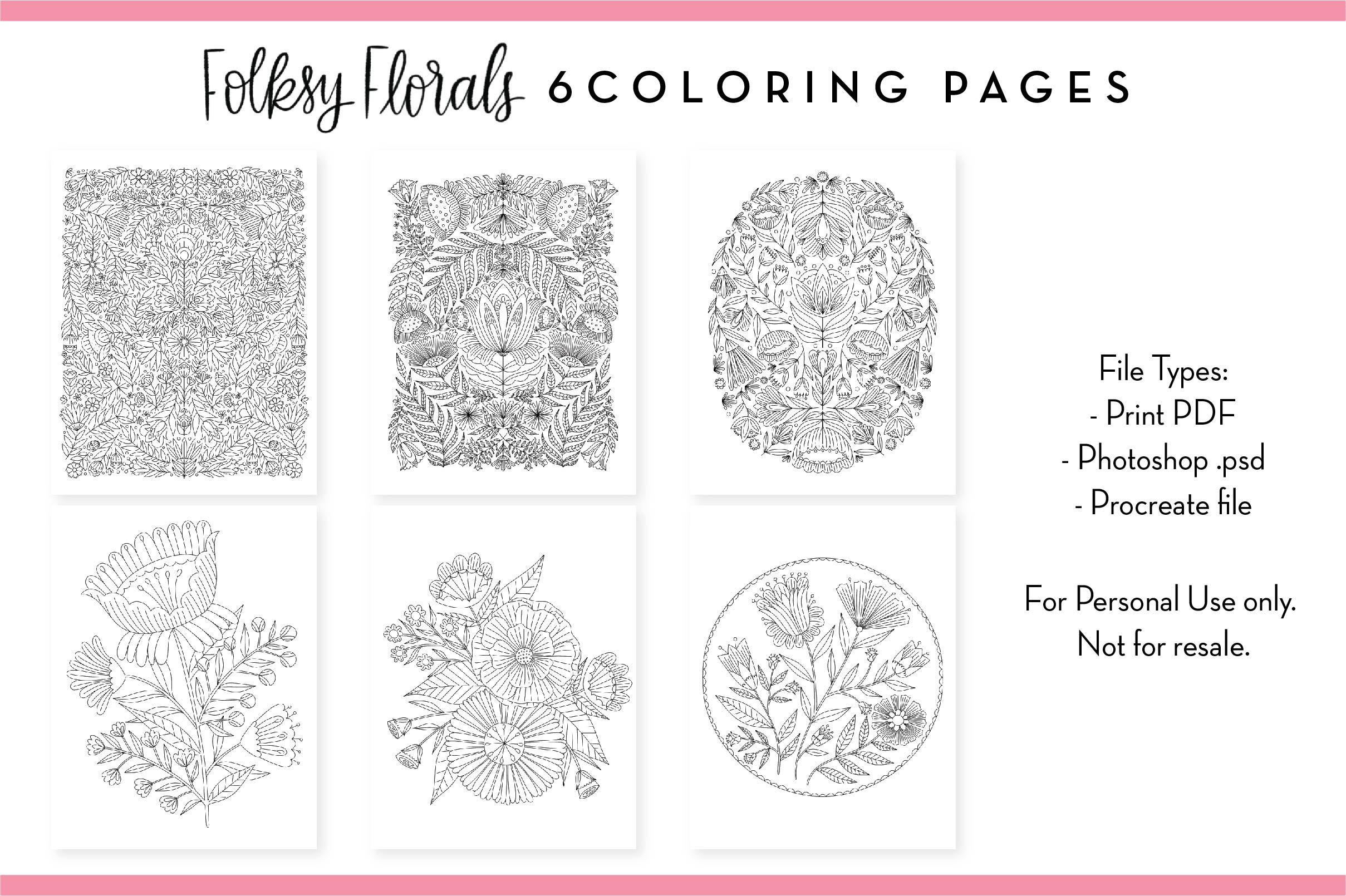 Folksy Florals Templates Design Bundle