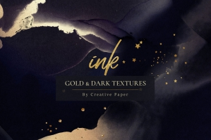 Gold Ink Dark Textures
